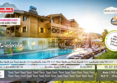 TV zender reclame Hotel Riederalm